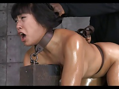 Asian tolerant tied, gagged,..