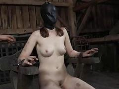 Defoliated and gagged babe..