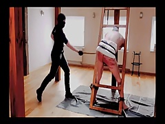 A male slave is taken to..