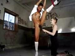 Tied up sinister coed fucked!