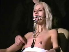 Blonde bondage babe Wynter..