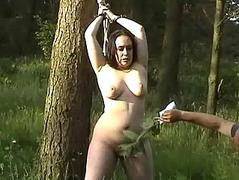Cubby unskilled in park BDSM